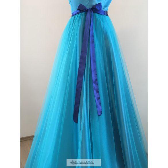 Timi kék koszorúslány ruha