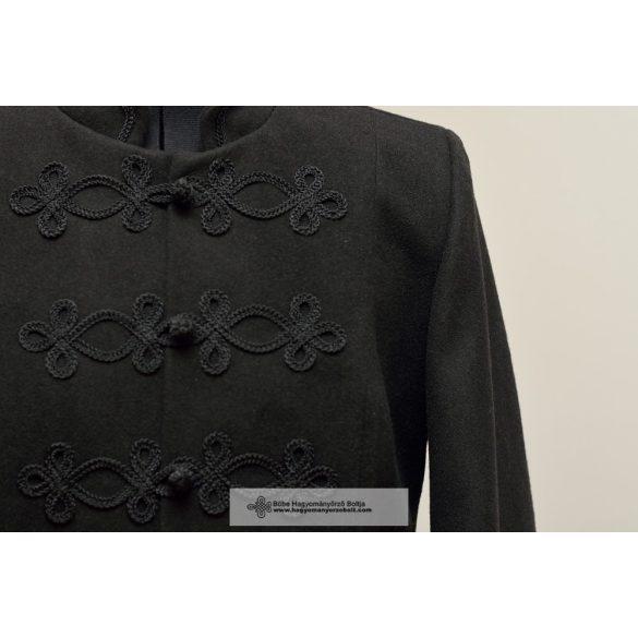 Bocskai, rövid női kabát- fekete
