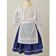 Kislány ruha együttes, kék szoknyával
