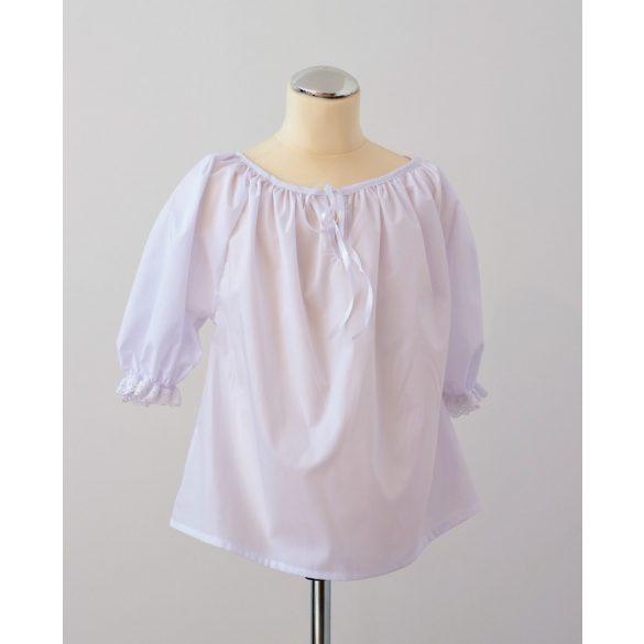 White girl blouses