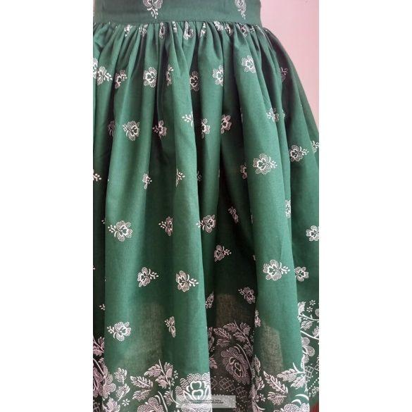 Néptáncos szoknya-zöld-bordűrös