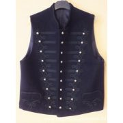 Mock-up vest with stringed decoration