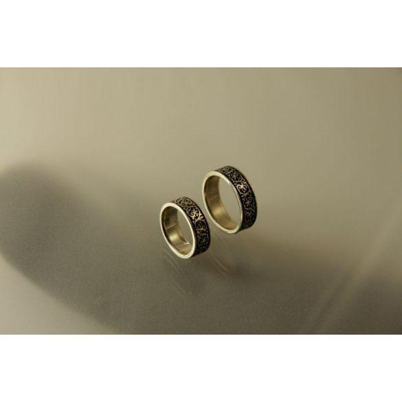 """Háromszéki"" wedding ring-Hungarian jewelry"