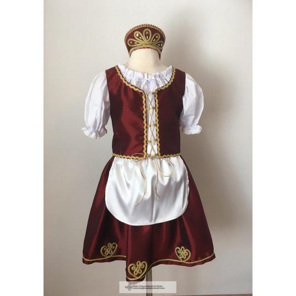 Magyar ruha, bordó